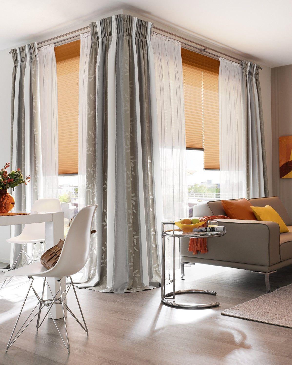 Fenster selene gardinen dekostoffe vorhang wohnstoffe plissees rollos jalousien - Gardinen rollos wohnzimmer ...