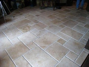Charmant Travertine Tile Patio | Travertine French Pattern Tiles Traditional Patio