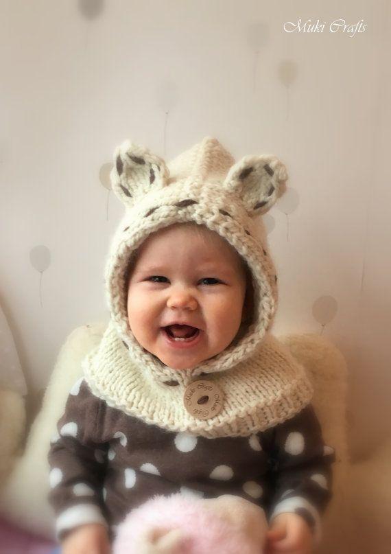 KNITTING PATTERN polar bear hooded cowl Popi (baby, toddler, child ...