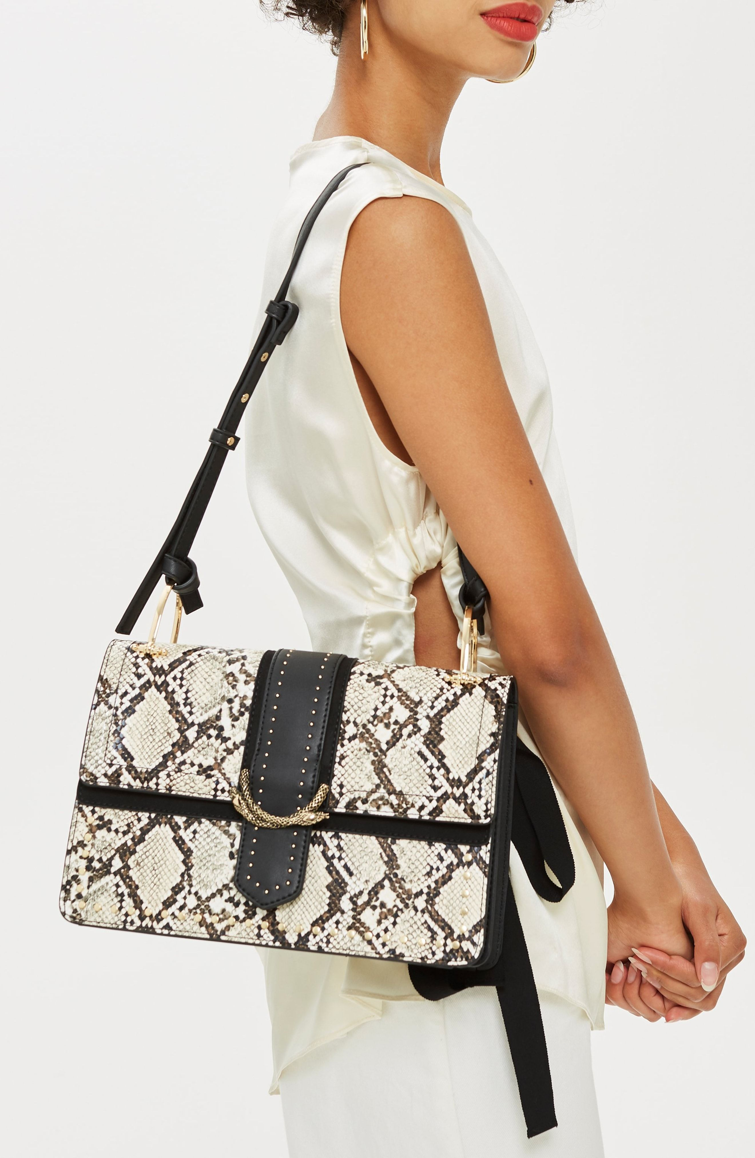 cheap prices authorized site newest collection Suri Snake Effect Shoulder Bag | Shoulder bag, Bags, Snake print boots
