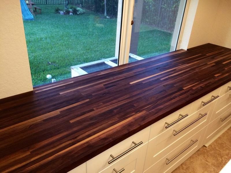 American Walnut Butcher Block In The