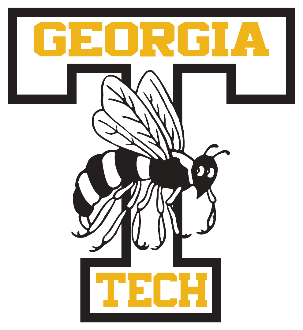 Old School Logo Georgia Tech Yellow Jackets Embroidery Logo