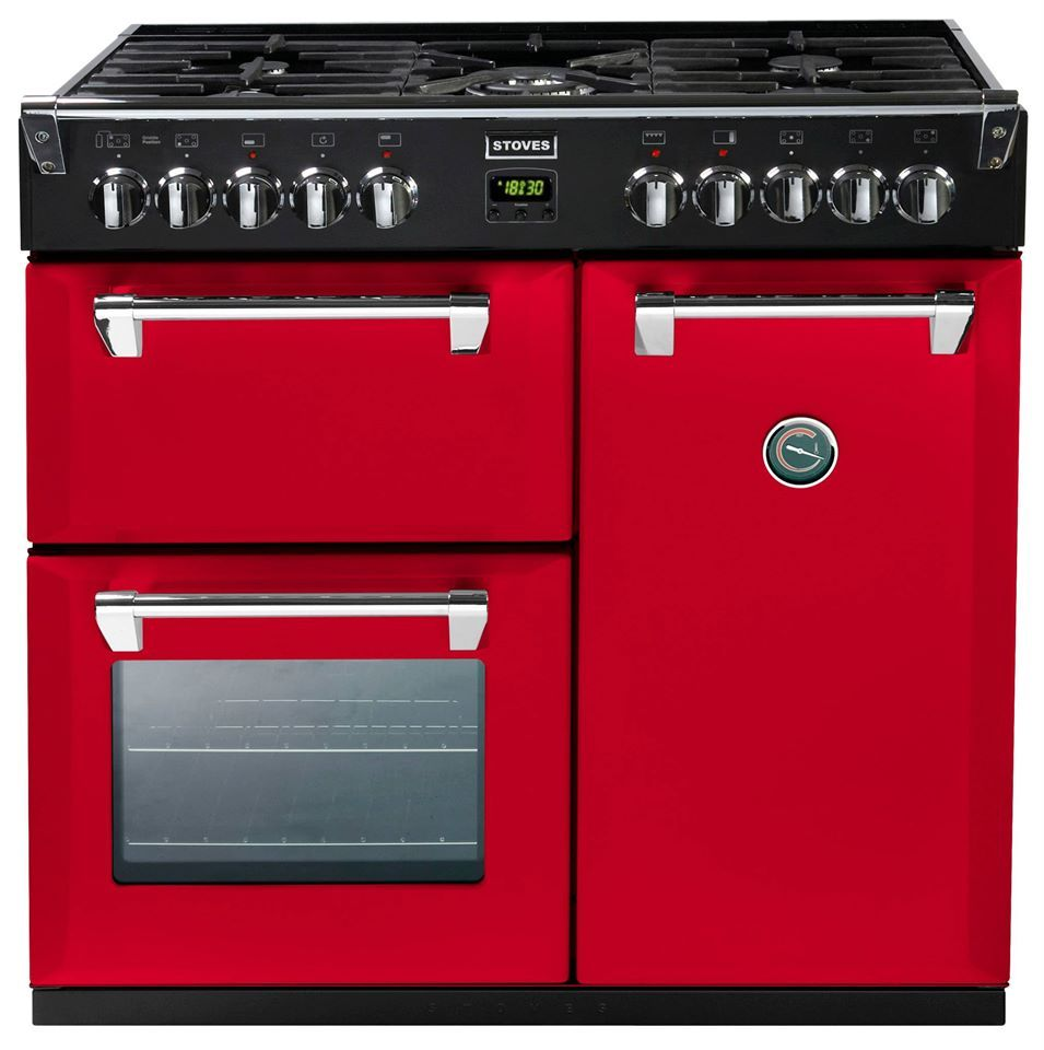 Piano De Cuisson STOVES Gaz Cm Et Fours Grand Four L - Cuisiniere gaz et four electrique 90 cm pour idees de deco de cuisine