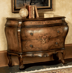 Hand Painted Bombay Chest Hall Chest Painted Furniture