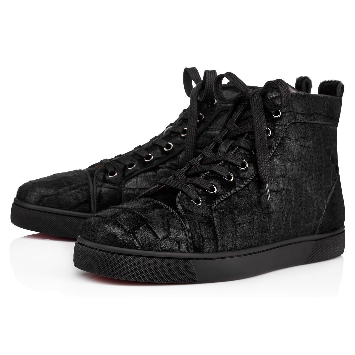 68ced44b7a0a CHRISTIAN LOUBOUTIN Louis Orlato Men S Flat Black Pony - Men Shoes - Christian  Louboutin.  christianlouboutin  shoes