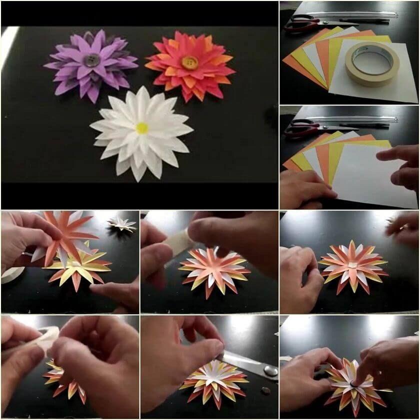 Diy Paper Flower Step By Step Making Tutorials K4 Craft Diy
