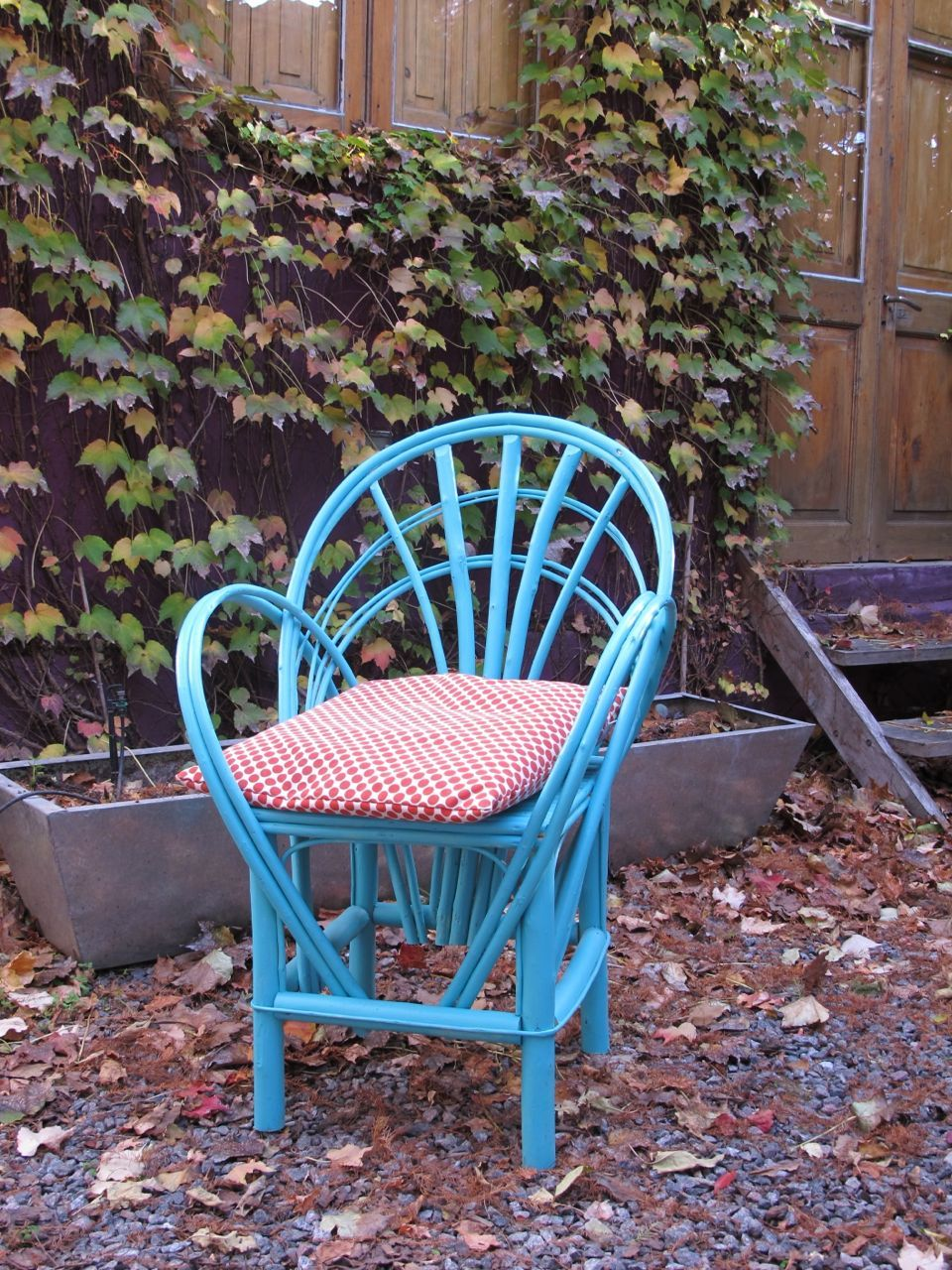 Silla de mimbre pintada con almohad n sillas 2 - Sillas de mimbre ...