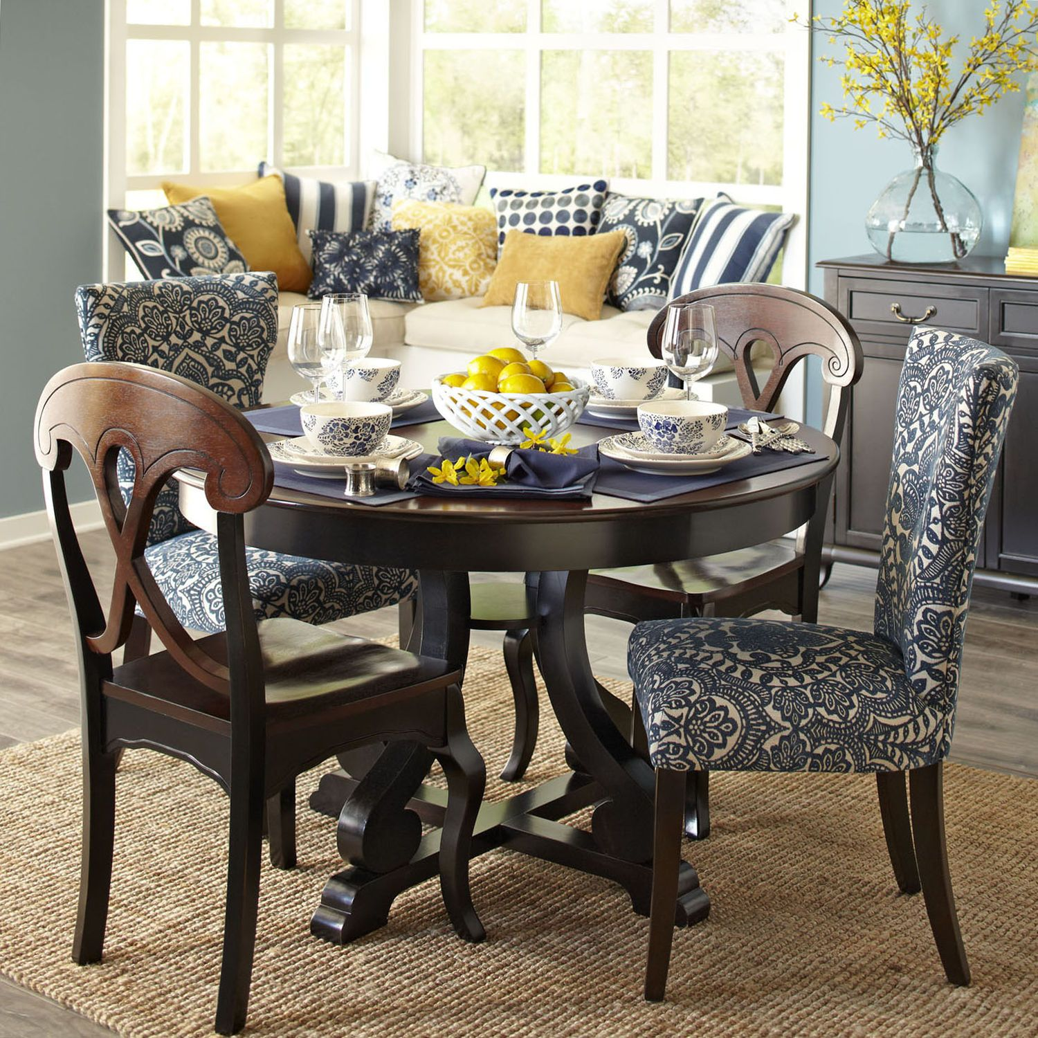 Marchella Dining Room Set Rubbed Black Pier 1 Imports Dining