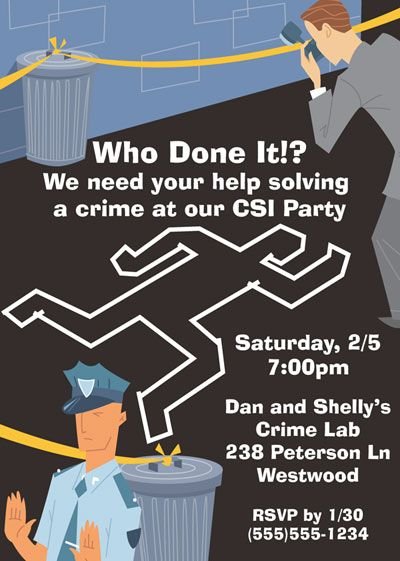 CSI party chalk outline - flyer inspiration for Cadette Secret - flyer outline
