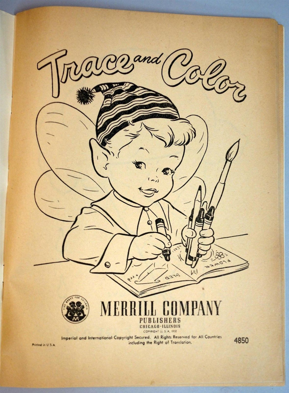 Unused trace u color coloring book illustrated by charlot byi