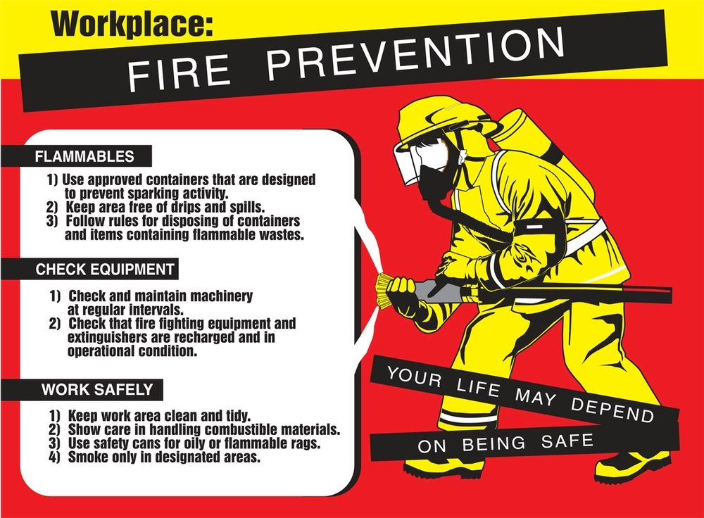 How to prevent catching of fire from the workplace? Check