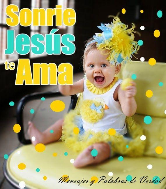 """Mensajes y Palabras de Verdad: Sonrie""""Cristo te ama"""". Imagenes para compartir."""