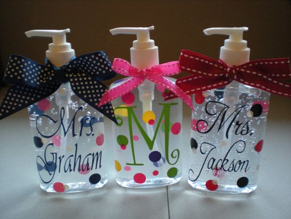 Varied Vinyl Designs Of Hand Sanitizers Personalized Teacher