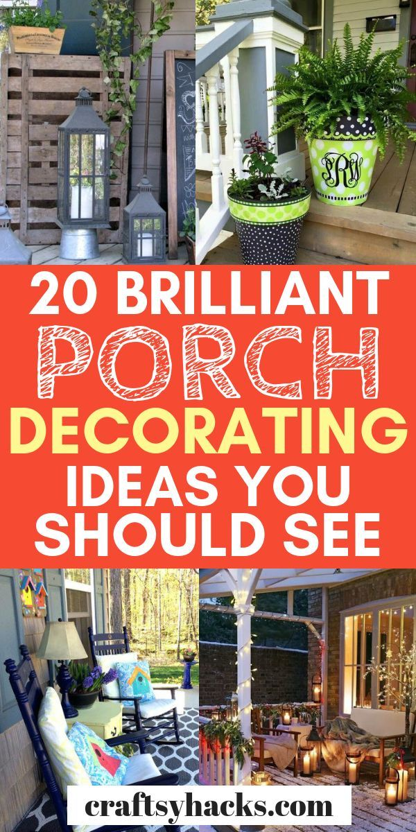 Get ideas for porch furniture, porch decorations and porch lighting here. These lovely porch decor ideas will definitely give you a little bit of decor inspiration. #porch #porchdecor #decorating