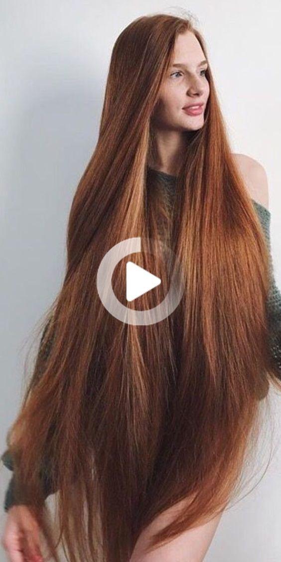 Classic und cool: lange glattes Haar # klassische #cool #hair #long #straight