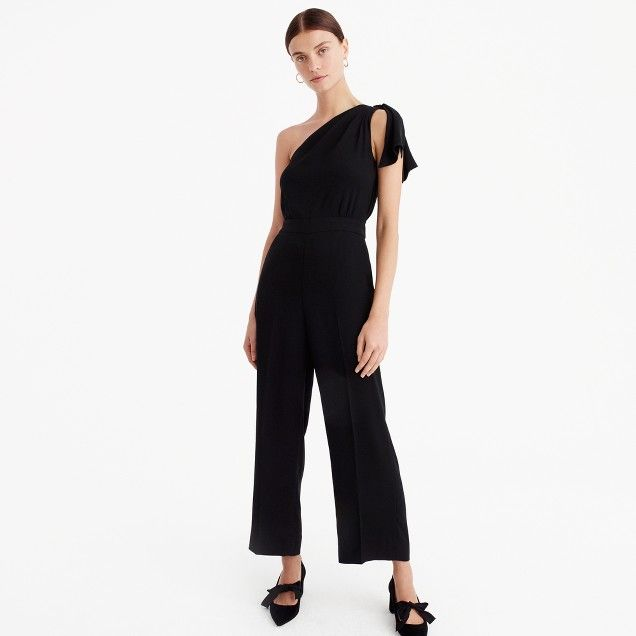 017e839ea3d0 One-shoulder jumpsuit. One-shoulder jumpsuit Cashmere Sweaters, Holiday  Party Outfit ...