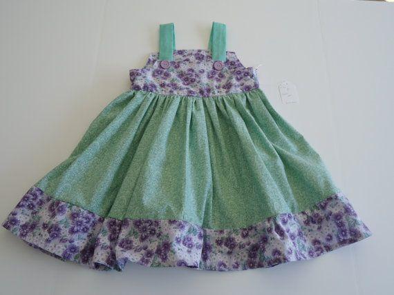 Purple and green sun dress. Size 5  Item  by SewRitebyChris, $31.00