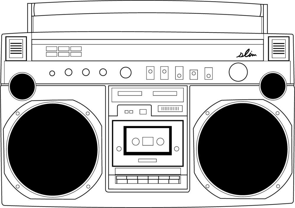 Design Boombox Slim Boombox Art Boombox Music Illustration