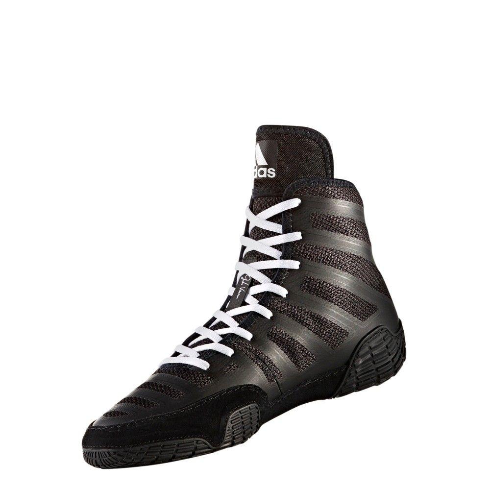 separation shoes 3ed13 e3c23 Adidas Men s Adizero Varner Wrestling Shoes - Black 12