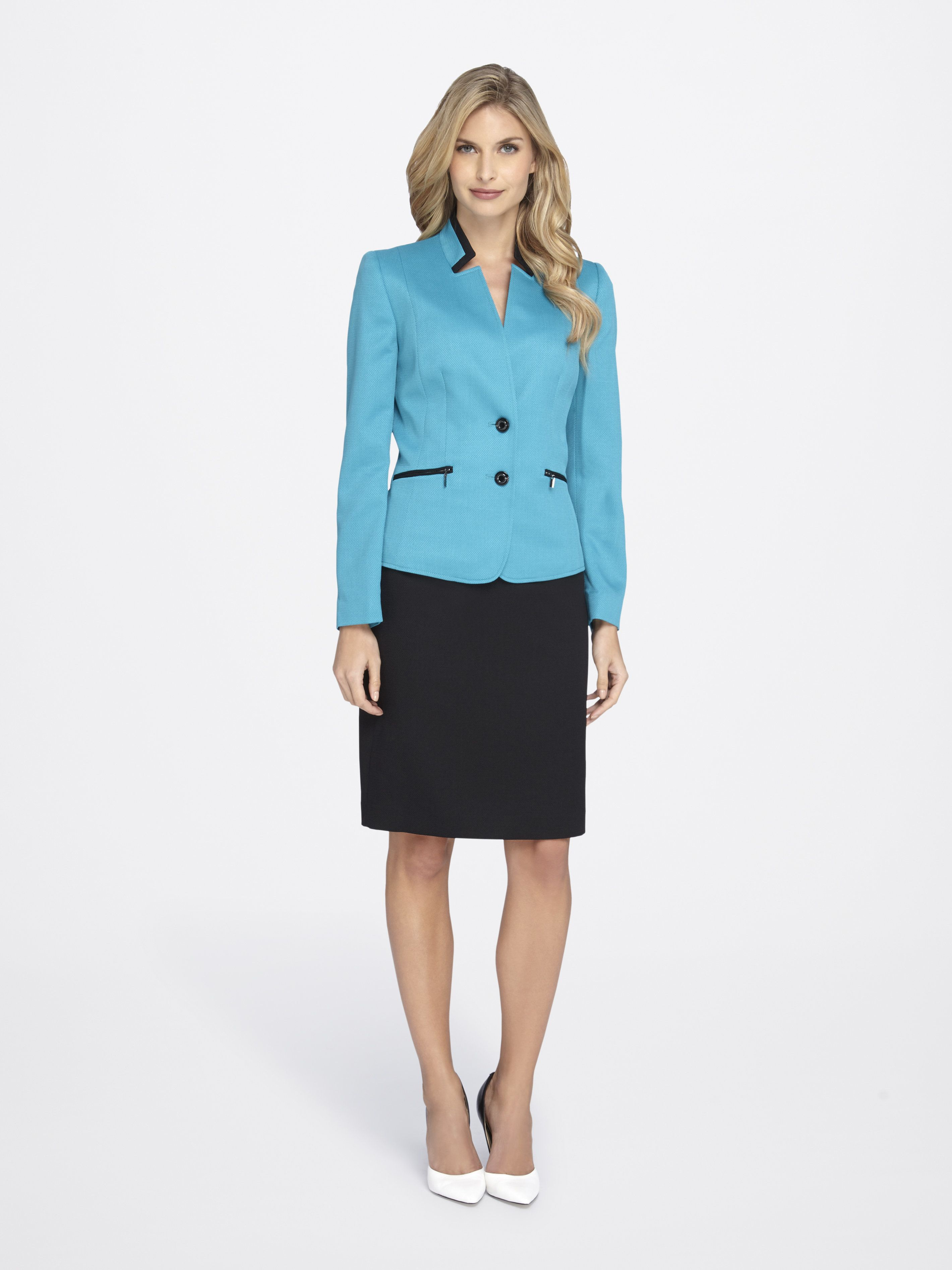 Piqué Skirt Suit - Tahari ASL | Wedding Consultant Attire ...