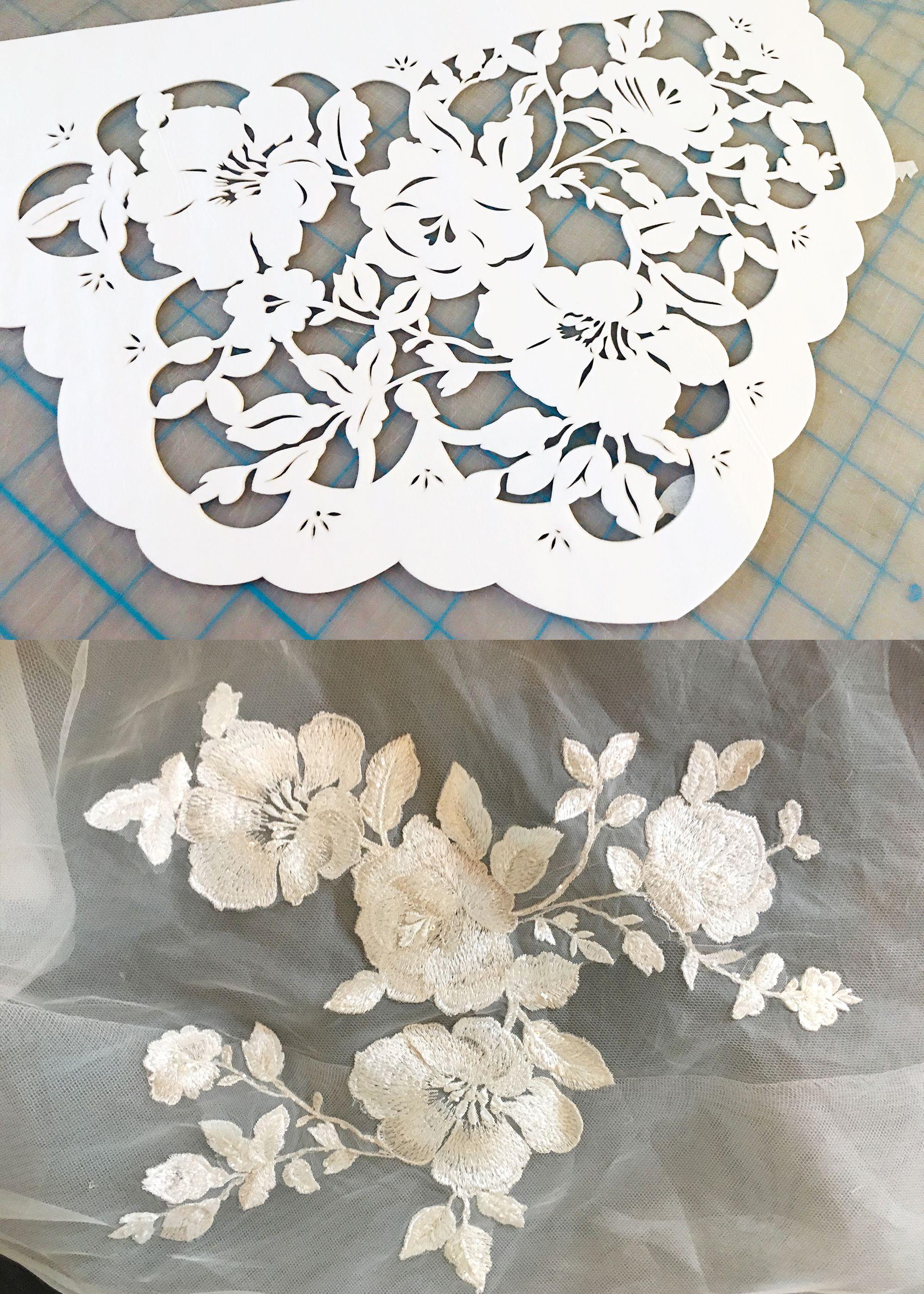 Designed To Match Our Bride S Wedding Dress Floral Details