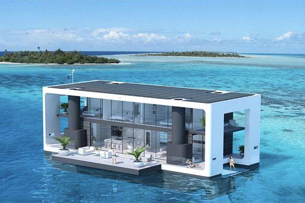 海の上でぷかぷか 憧れの水上生活を叶える船みたいな住宅がステキ