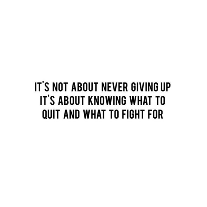 Never give up - quote