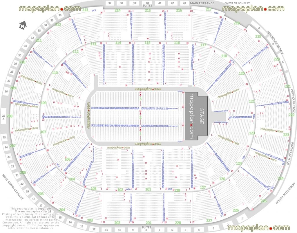 Golden 1 Center Detailed Seating Chart Seating Charts Seating Plan Chart