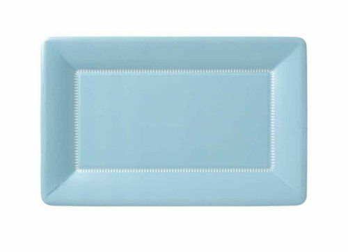 Plates and Napkins Paper Plates Solid Style Plates Rectangular Plate Powder Blue 9  sc 1 st  Pinterest & Ideal Home Range Cafe Paper Plates Zing Soft Blue 12 X 7-Inch 8 ...