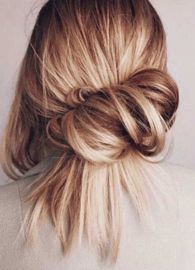 My Hairstyle Literally Every Single Day Hair Pinterest Low - Croissant hairstyle bun