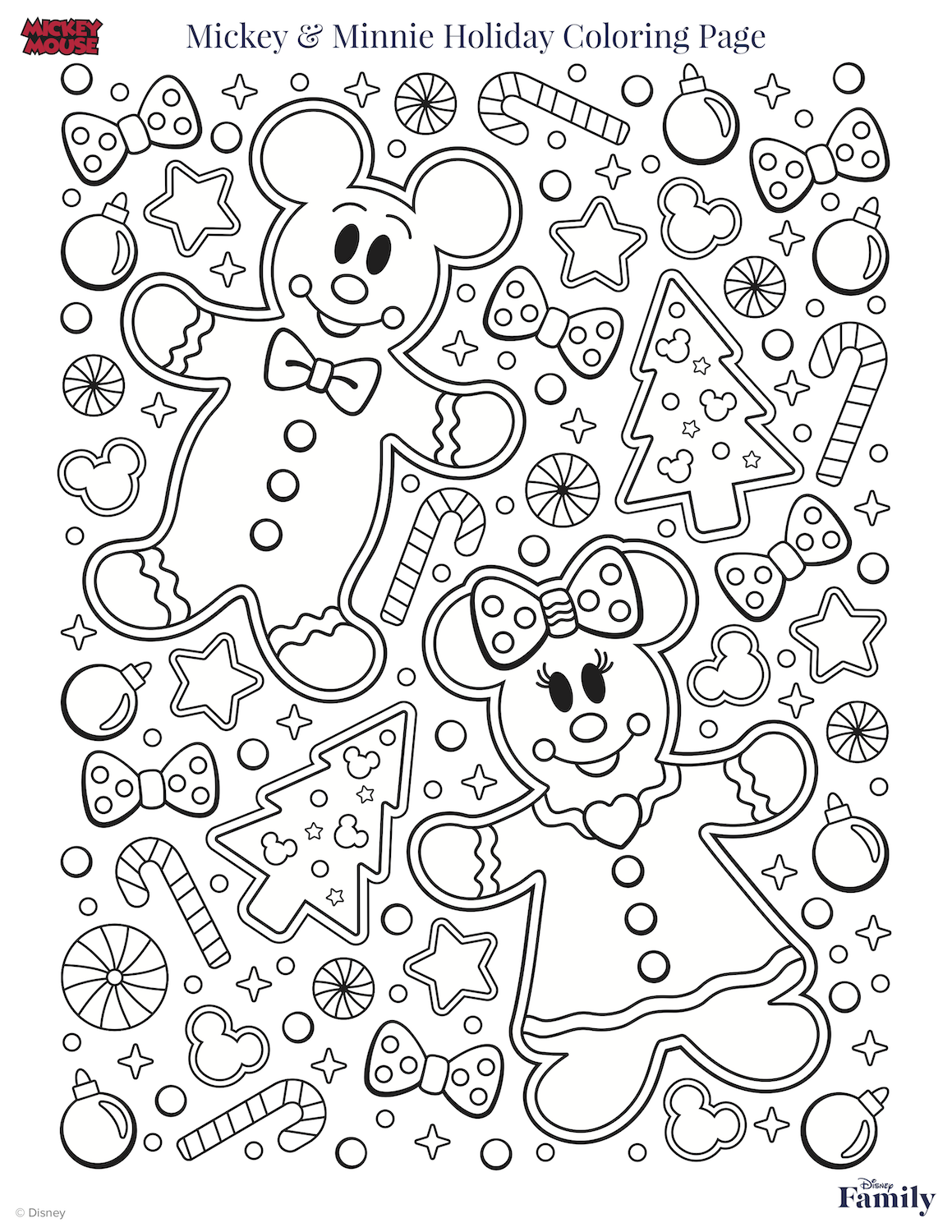 Mickey Christmas Coloring Page Christmas Coloring Pages Kids Christmas Coloring Pages Disney Coloring Pages