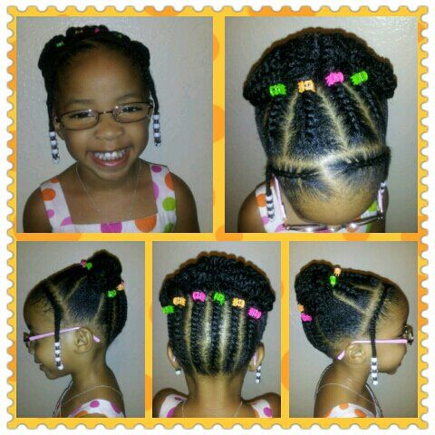 Black Little Girls Hairstyles Natural Little Girl Style  Coiffure Et Beauté  Pinterest  Little