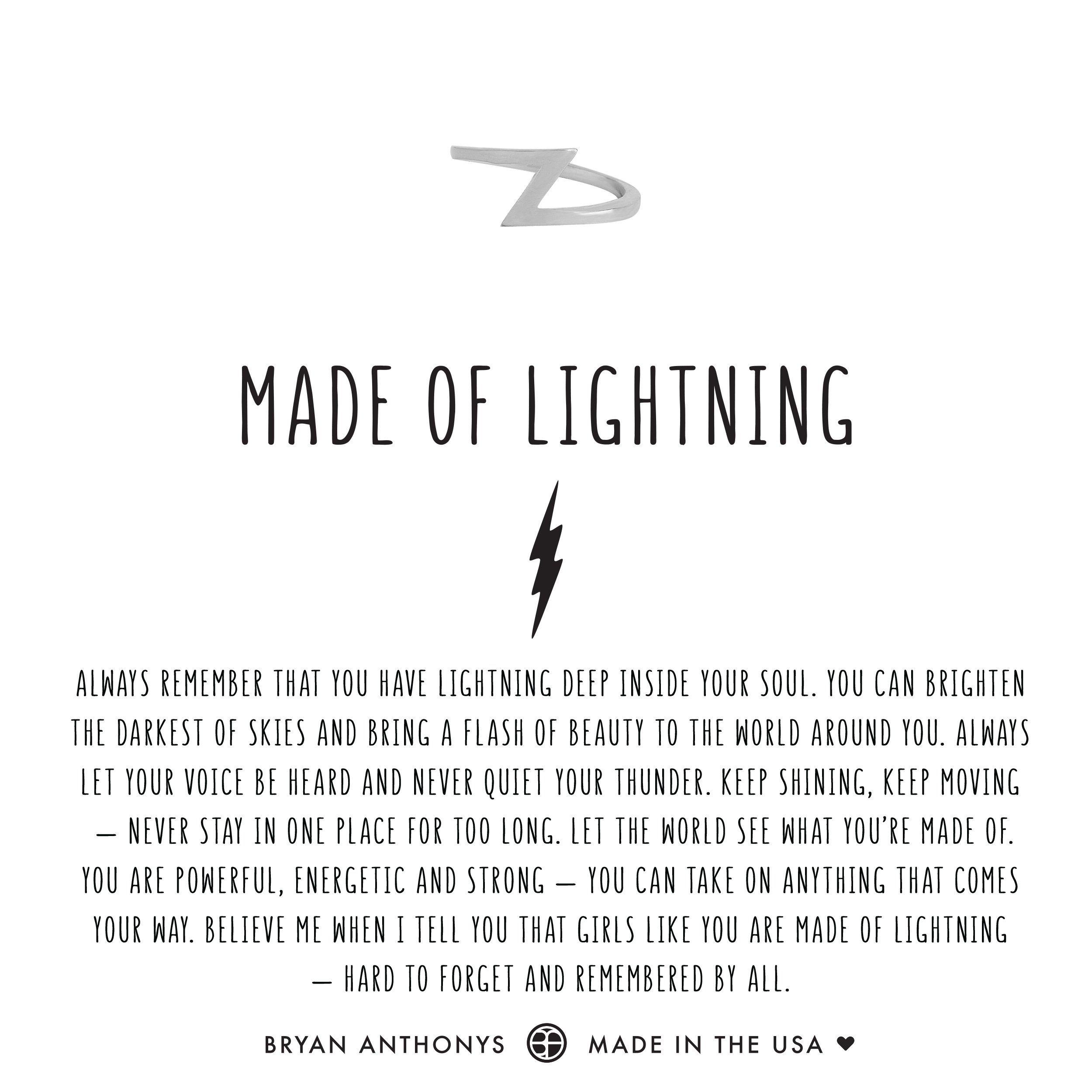Made Of Lightning Ring Lightning Tattoo Lightning Bolt Tattoo Bolt Tattoo