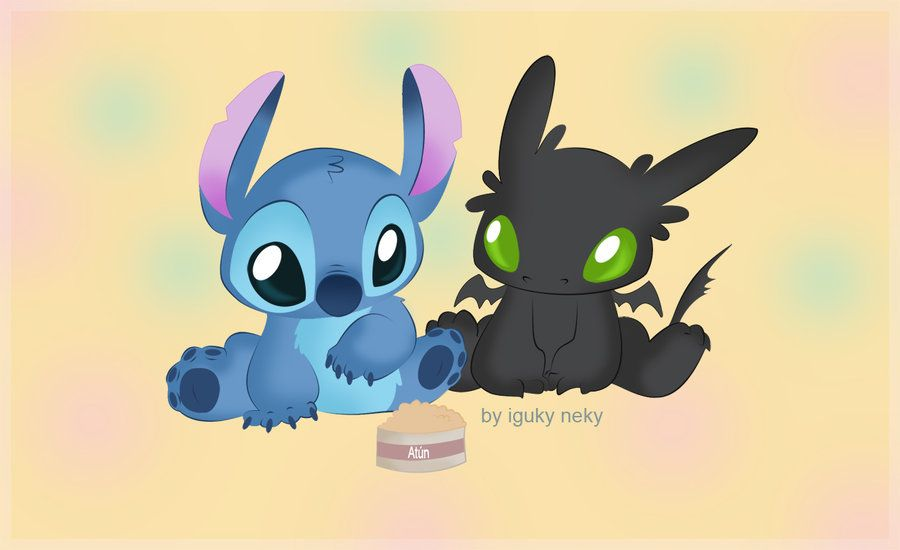 Stitch & Chimuelo by iguky neky