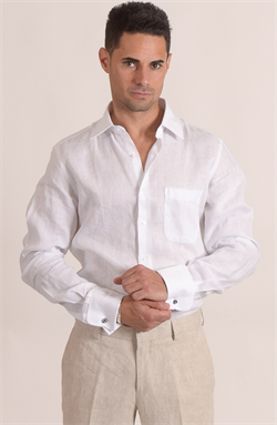 Show details for French Cuff Linen Shirt
