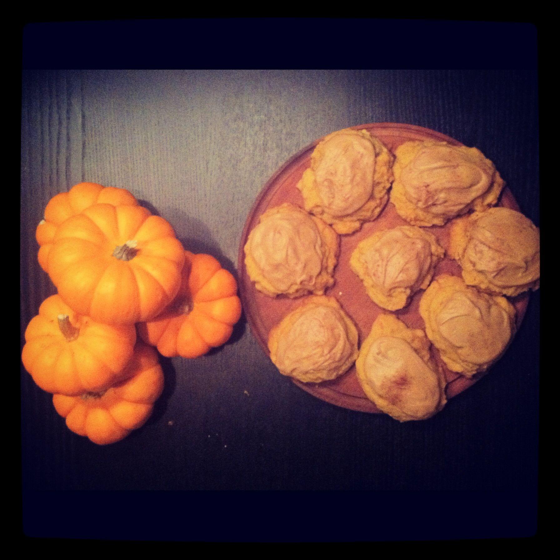 Pumpkin Cookies for Fall