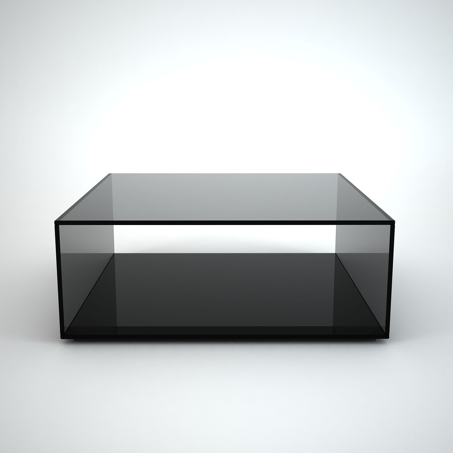 Quebec Square Grey Tint Gl Coffee Table By Klarity