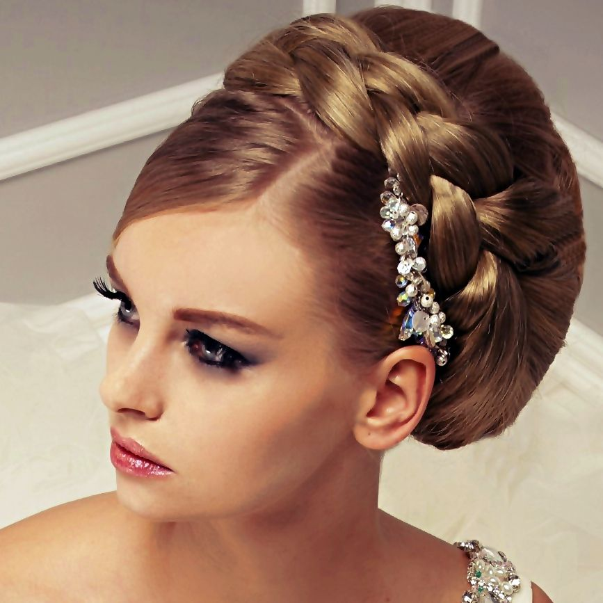 les 25 meilleures id es de la cat gorie coiffure nuptiale sur pinterest coiffures demoiselles. Black Bedroom Furniture Sets. Home Design Ideas