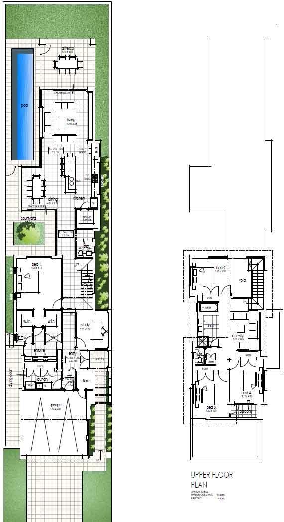 Our Latest Narrow Block House Designs For Mount Pleasant Perth Denah Rumah Rumah Modern Arsitektur
