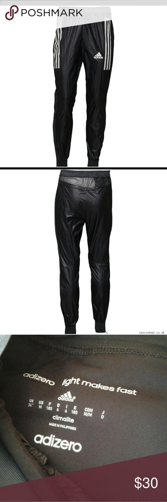 Adidas adizero climalite running pants BlackWhite Product
