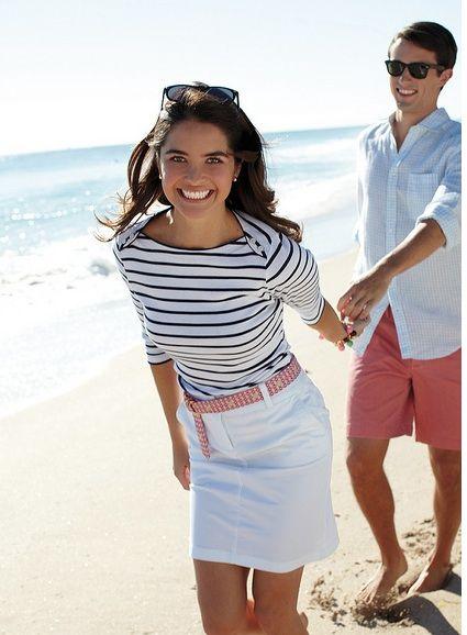 Walk on the Beach #Classic #Hamptons #Preppy