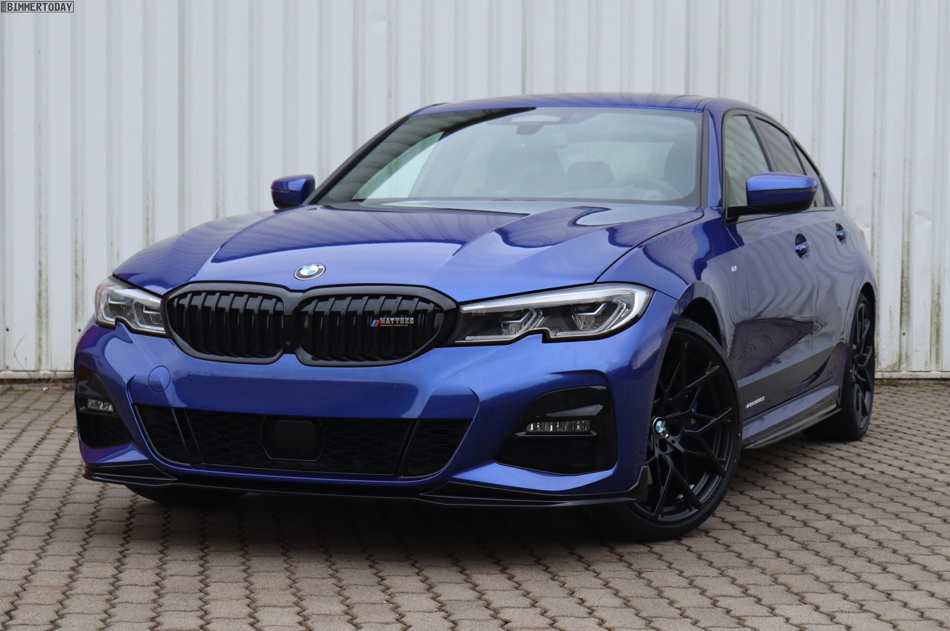 Bmw 330i In Portimao Blue Gets Some M Performance Upgrades Bmw Bmw Accessories Bmw Touring