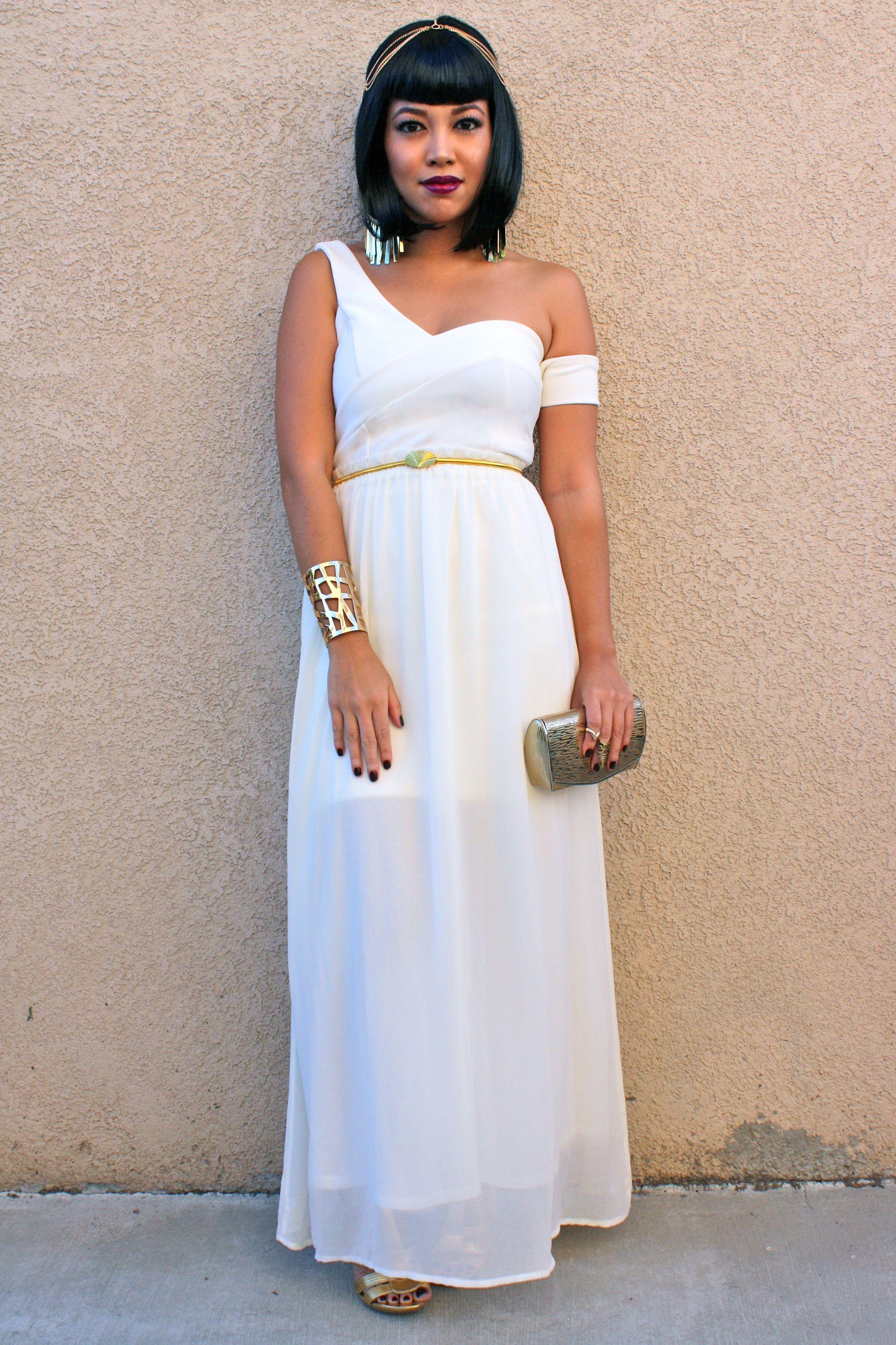 Halloweek Cleopatra Coming Atcha Goddess Costume Goddess Costume Diy Egyptian Goddess Costume