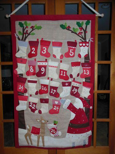 Pottery Barn Kids Stocking Advent Countdown Calendar