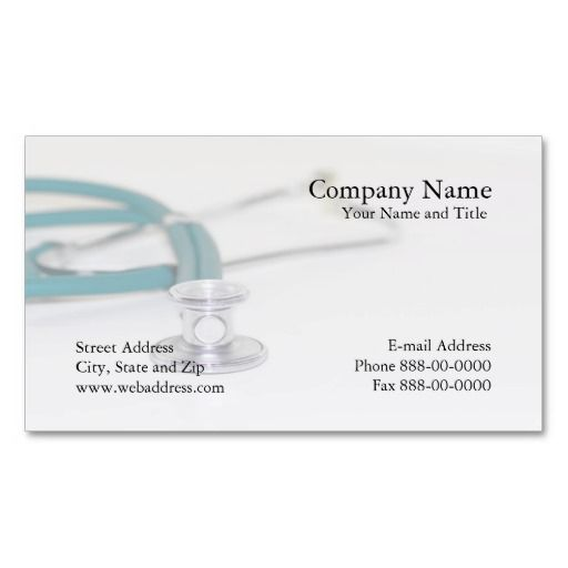 Physician Business Card Zazzle Com Nurse Business Cards