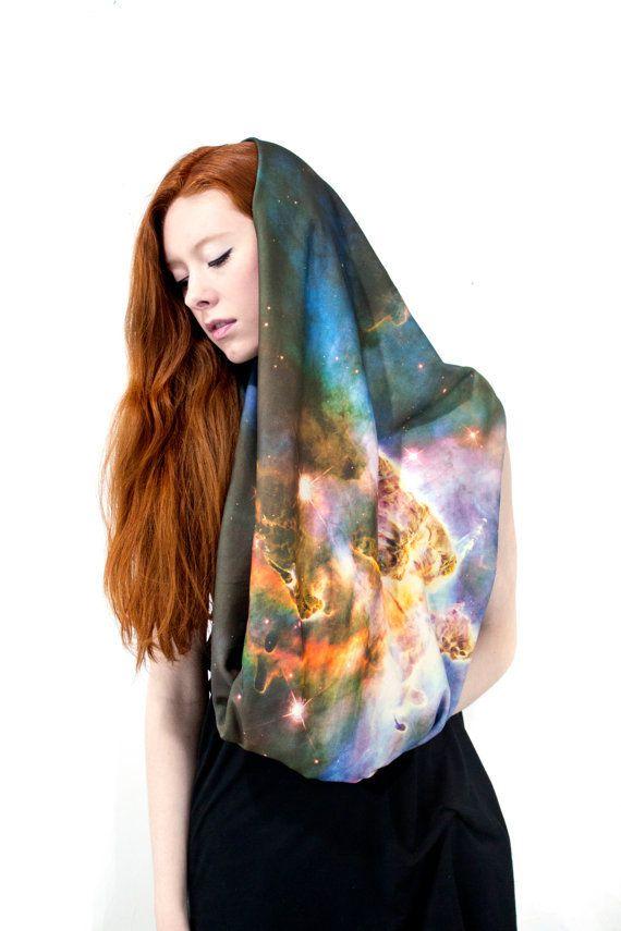 Mystic Mountain Nebula Scarf, Infinity Scarf Wanelo
