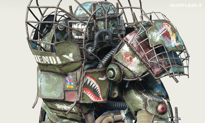 fallout 4 raider power armor chop shop by madmax713 shark paint