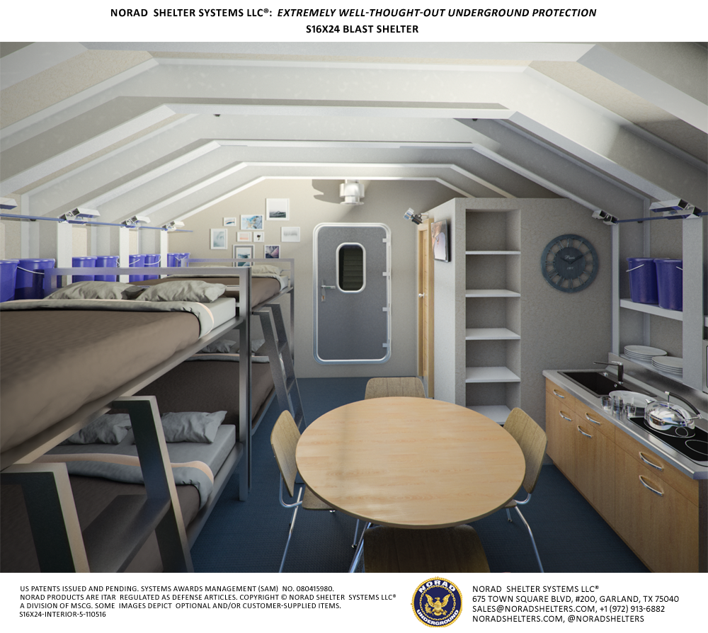 The Military Shelter Comes With Cabinets A Pantry A Sofa
