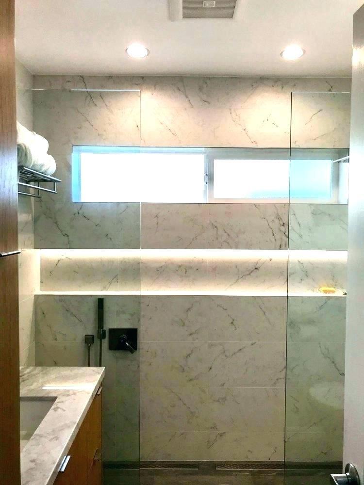 recessed shower lighting shower niche