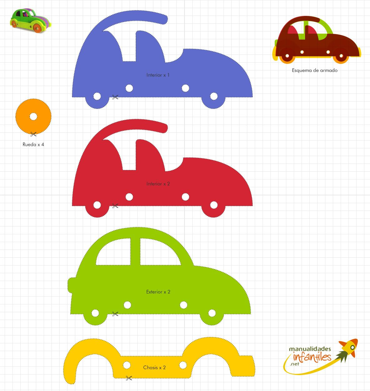 Auto en goma eva   yeca   Pinterest   Goma eva, Gomitas y Juguetes